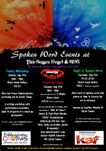 KAF14 spoken word Events Poster