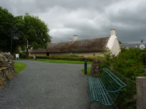 Burns Cottage, Alloway, where he lived as a child.