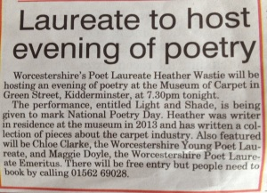 Cutting from Kidderminster Express & Star
