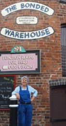 Heather Wastie and the splended Bonded Warehouse building 29 June 2016